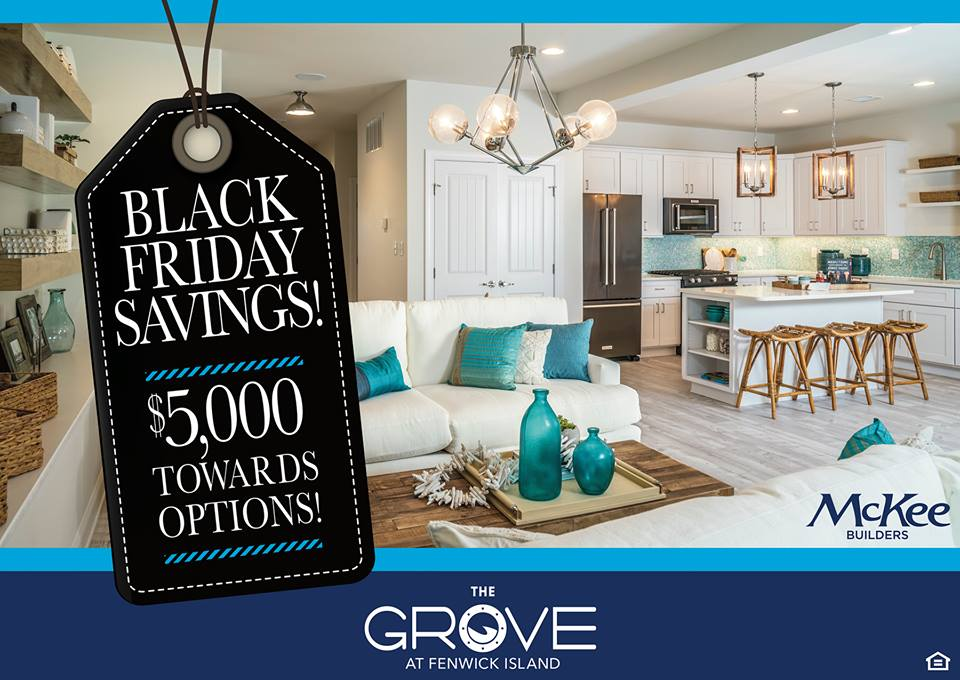 Black Friday Savings McKee Builders new home the grove