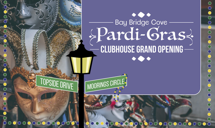 clubhouse grand opening Bay Bridge Cove Pardi Gras McKee Builders